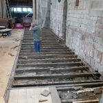 Flooring removed