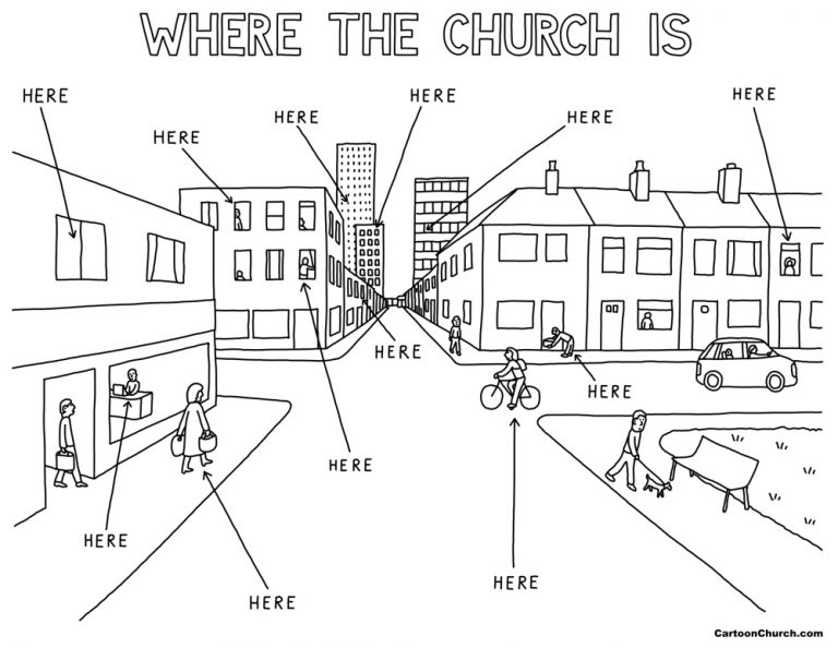Where the Church is.